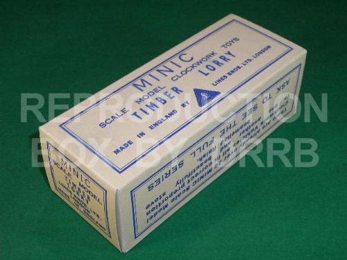 Minic #68M Timber Lorry - Reproduction Box
